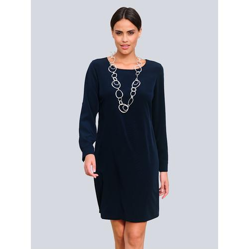 Alba Moda, Kleid mit Krempelmöglichkeit, blau