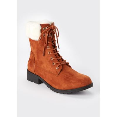 Rue21 Womens Camel Double Buckle Heeled Booties - Size 6