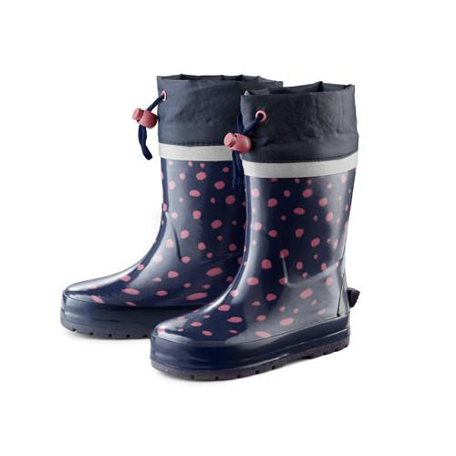 Kinder-Regenstiefel, gepunktet