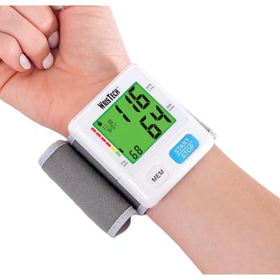 Color Coded Slim Wrist BPM by North American Health+Wellness in White