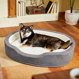 Frisco Bolster Cat & Dog Bed, Gray, Large