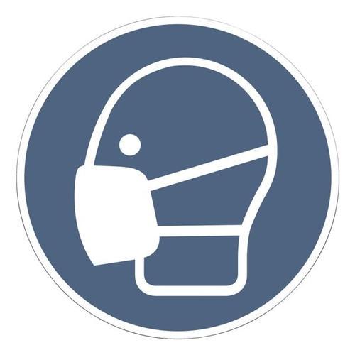 Aufkleber »Maskenpflicht« Ø 20 cm, 10 Stück, OTTO Office