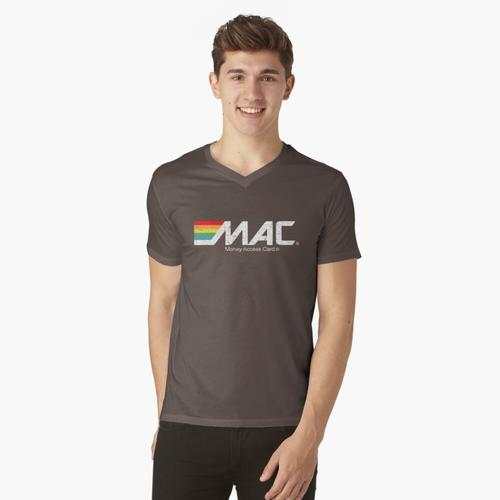 MAC-Geldzugriffskarte t-shirt:vneck