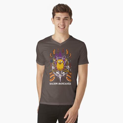 Bacon-Pfannkuchen t-shirt:vneck