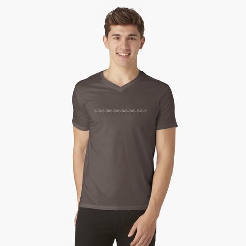 Fahrrad-Kettenlinie t-shirt:vneck