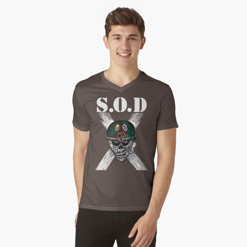 S.O.D (Sturmtruppen des Todes) t-shirt:vneck