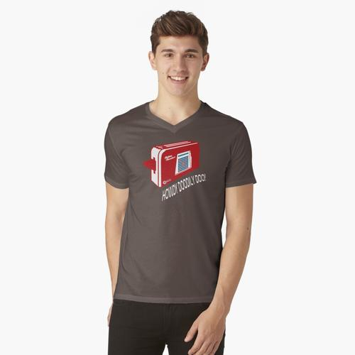 Talkie Toaster Red Dwarf Lustig t-shirt:vneck