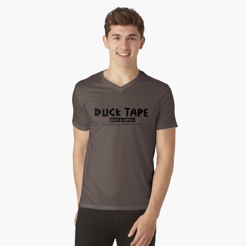 Duck Tape Bar und Grill t-shirt:vneck