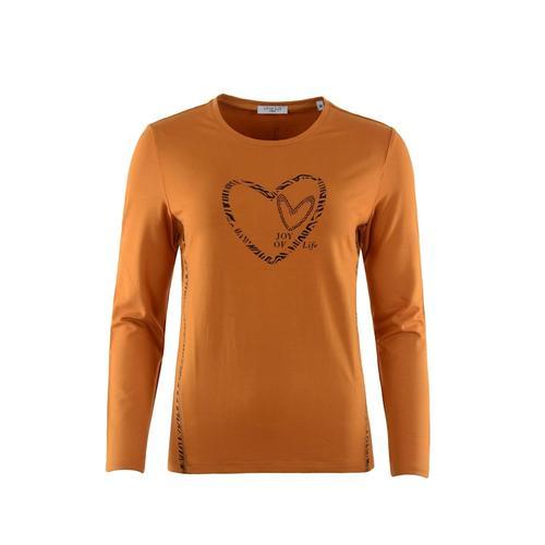 Shirt mit Folienapplikation Hajo zimt