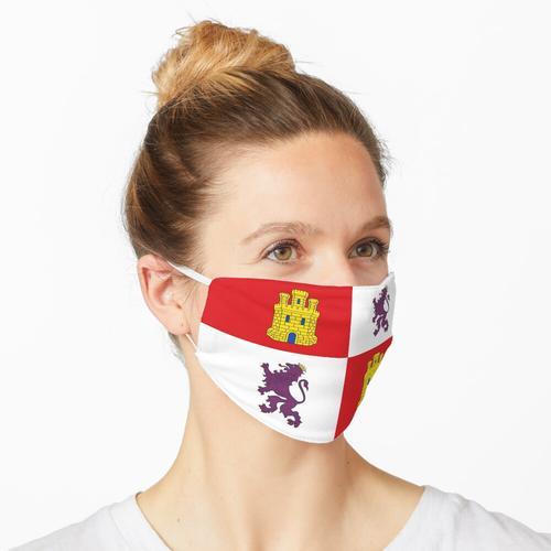 Kastilien und Leon Flagge Maske