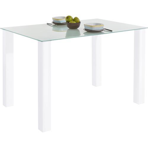 my home Esstisch, in 2 Größen farblos Esstisch Esstische quadratisch Tische