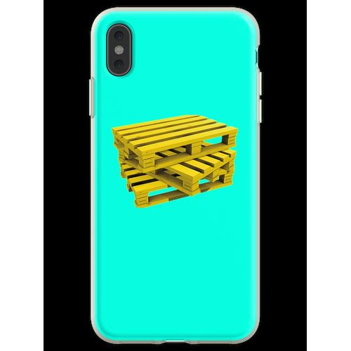 Wood Pallets Flexible Hülle für iPhone XS Max