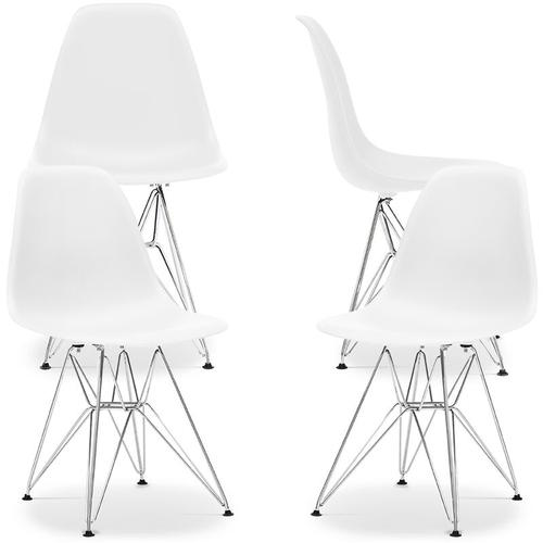 Premium Derwick Stuhl - Matt - Pack von 4 Weiß