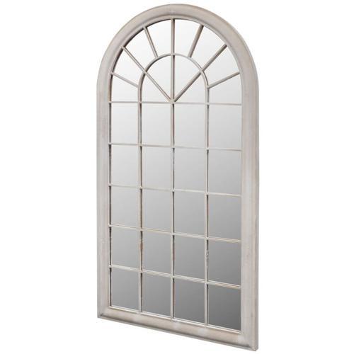Rustikaler Gartenspiegel Bogen 60×116 cm für Indoor und Outdoor