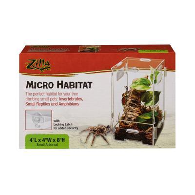 """Zilla Micro Habitat Arboreal, 4"""" L X 4"""" W X 8"""" H, 4 IN"""