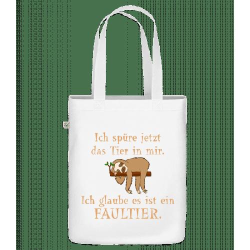Das Tier In Mir Ist Ein Faultier - Bio Tasche