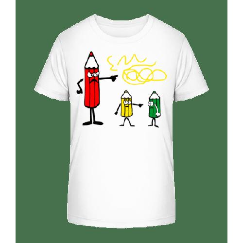 Buntstifte Gelb Ist Schuld - Kinder Premium Bio T-Shirt