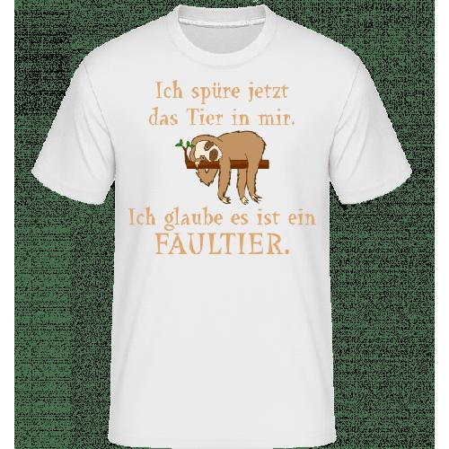 Das Tier In Mir Ist Ein Faultier - Shirtinator Männer T-Shirt
