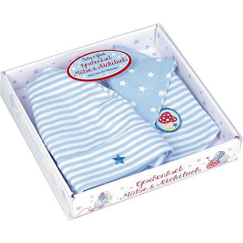 Geschenkset Mütze + Nickituch BabyGlück, hellblau (one size)
