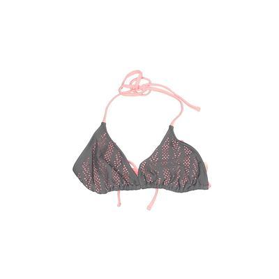 Xhilaration Swimsuit Top Gray Halter Swimwear - Used - Size Small