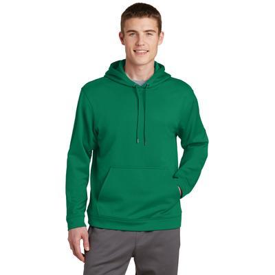 Sport-Tek F244 Sport-Wick Fleece Hooded Pullover T-Shirt in Kelly Green size 2XL