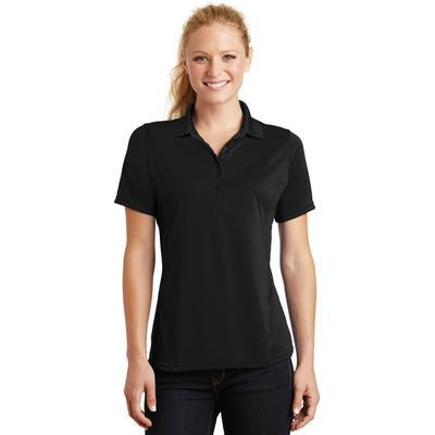 Sport-Tek L475 Women's Dry Zone Raglan Accent Polo Shirt in Black size Large | Polyester