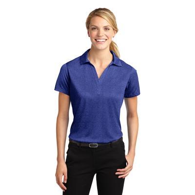Sport-Tek LST660 Women's Heather Contender Polo Shirt in Cobalt size Medium | Polyester