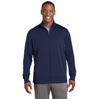 Sport-Tek ST241 Sport-Wick Fleece Full-Zip Jacket in Navy Blue size 4XL
