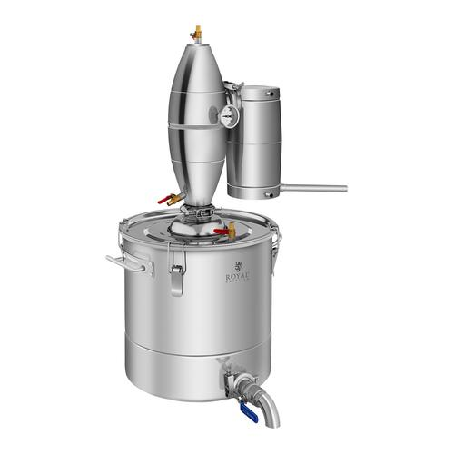 Royal Catering Destilliergerät - 4-Wege-Kühlung - Edelstahl - 30 L RCAD30C