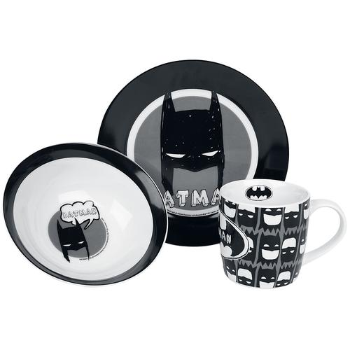 Batman Kindergeschirr Frühstücks-Set - multicolor - Offizieller & Lizenzierter Fanartikel