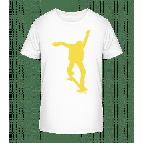 Skateboarder Sprung - Kinder Premium Bio T-Shirt