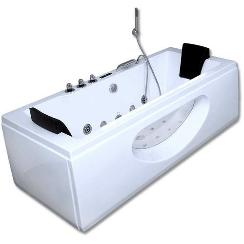 Home Deluxe - Whirlpool Badewanne Laguna M weiß I Eckwanne, Whirlwanne, Indoor Jacuzzi