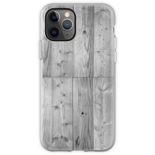 Holzbohlen 6 Schwarz & Weiß Flexible Hülle für iPhone 11 Pro
