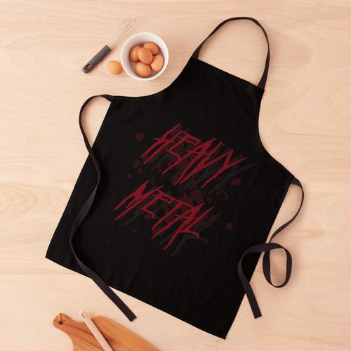 Dunkelrotes Heavy Metal Logo Schürze