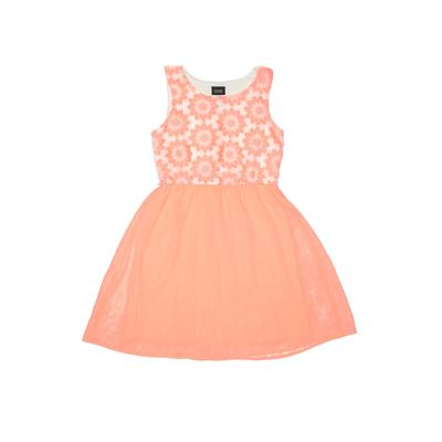 Holiday Editions Dress - Fit & Flare: Orange Solid Skirts & Dresses - Used - Size Large