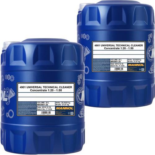 2x 20l Mannol Universal Technical Cleaner Kaltreiniger Phosphatfrei
