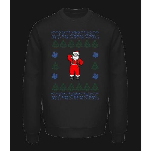 Weihnachtsmann Strickmuster - Unisex Pullover