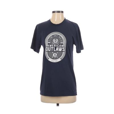 American Apparel - American Apparel Short Sleeve T-Shirt: Blue Graphic Tops - Size Small