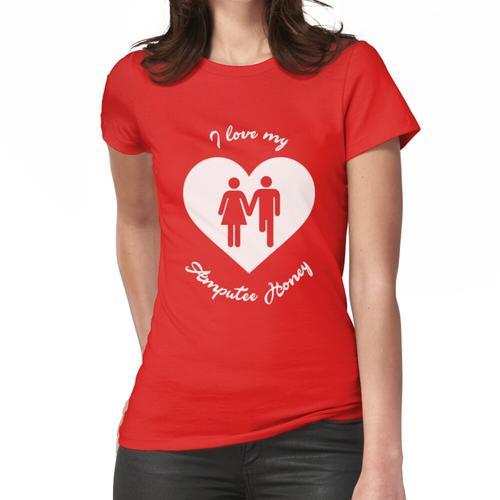 Ich liebe mein Amputierte-Honig-T-Shirt für Amputierte Frauen T-Shirt