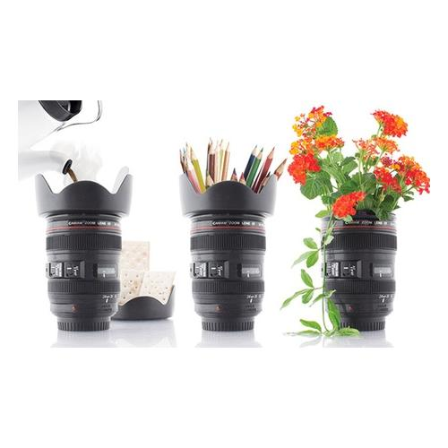 2x Kaffeebecher - Kamera Objektiv
