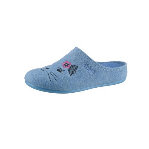 thies Hausschuh blau Damen Hausschuhe Schuhe Klassische Mode