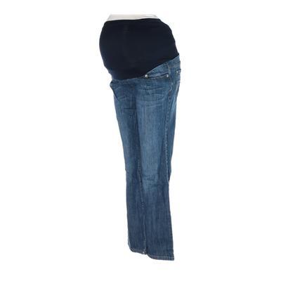 Liz Lange Maternity Jeans - Super Low Rise: Blue Bottoms - Size 2