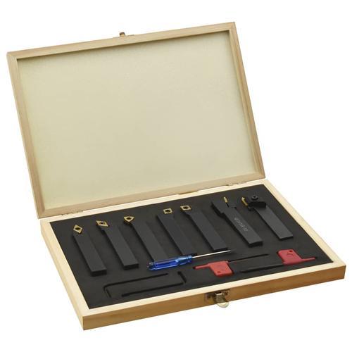vidaXL 12-tlg. Drehmeißel-Set mit Wendeplatten 16x16 mm 115 mm
