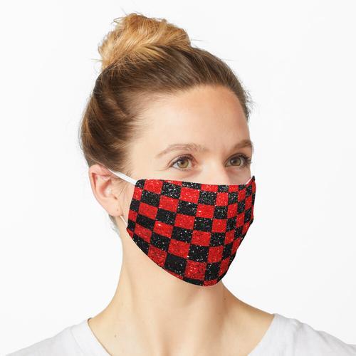 Kariertes Schwarzrot Maske