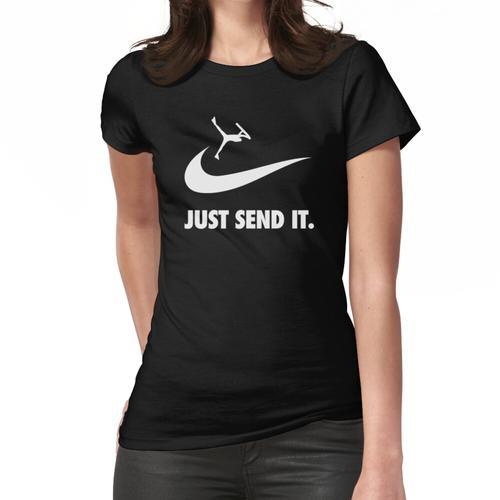 We Bodyboard // Just Send it!! - Bodyboarding Women's Fitted T-Shirt