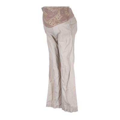 Old Navy - Maternity Khaki Pant: Ivory Solid Bottoms - Size Small Maternity