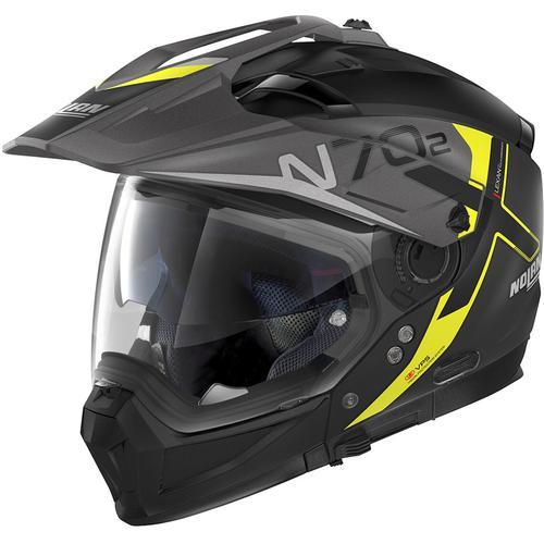 Nolan N70-2 X Bungee N-Com Helm, schwarz-gelb, Größe S