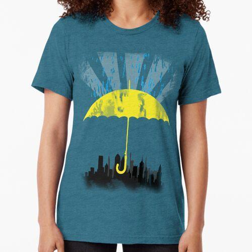 Gelber Regenschirm Vintage T-Shirt