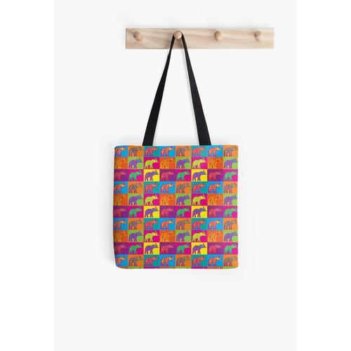 Elefanten Pop Art Tasche