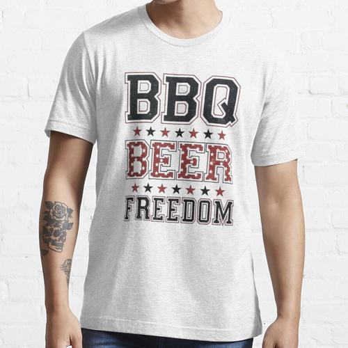 Grill Bier Freiheit, Grill, Freiheit, Grill Bier Freiheit Kerl, Grill Bier Freihe Essential T-Shirt
